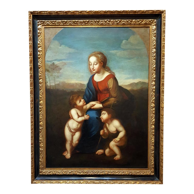 Madonna With Child -17th Century Italian Old Painting For Sale