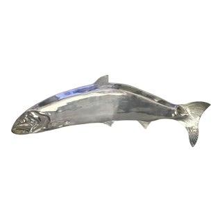 Large Pewter Fish Platter For Sale