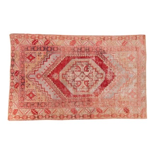 "Vintage Distressed Oushak Rug - 3'8"" X 5'8"" For Sale"