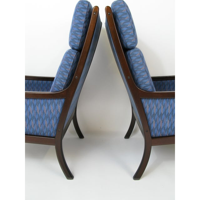 Danish Modern Lounge Chairs by Ole Wanscher for P. Jeppesen - Set of 3 - Image 5 of 8