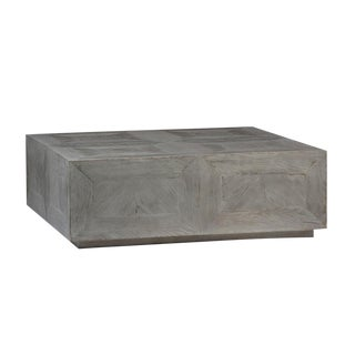 Grey Wood Block Coffee Table For Sale