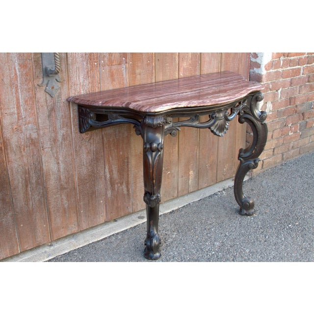 Ebonized Anglo Indian Console Table, Pair For Sale - Image 4 of 10