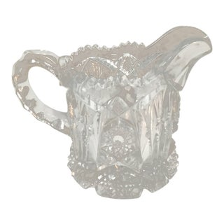 20th Century Traditional Brilliant Cut Crystal Creamer For Sale