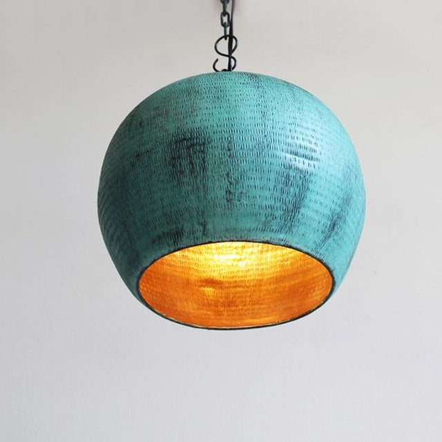 Green Copper Bola Lantern - Image 2 of 3