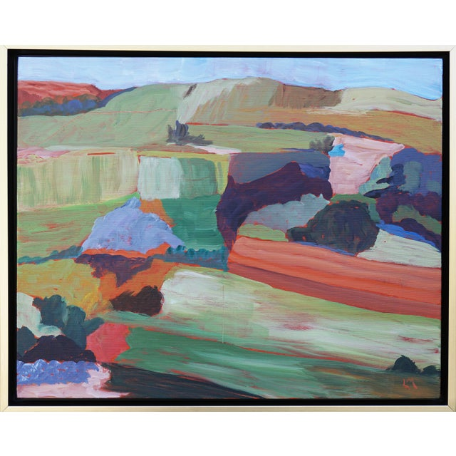"""Roadside Attraction"" Contemporary Abstract Acrylic Landscape by Laurie MacMillan, Framed For Sale In Los Angeles - Image 6 of 6"