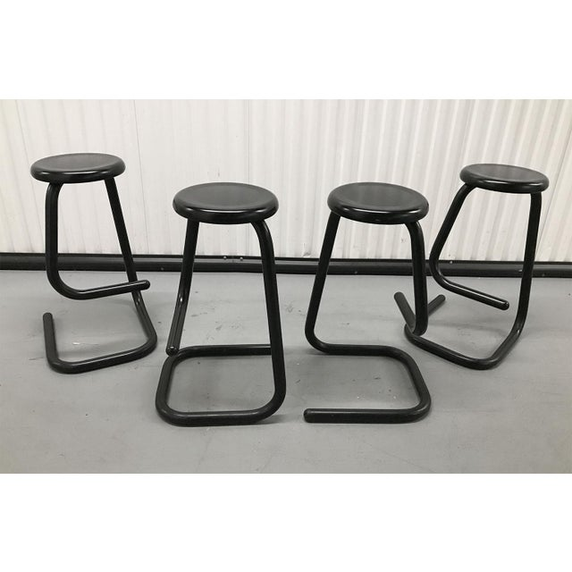 """1970s """"Paperclip"""" Bar Stools by Haworth for Kinetic For Sale - Image 4 of 10"""