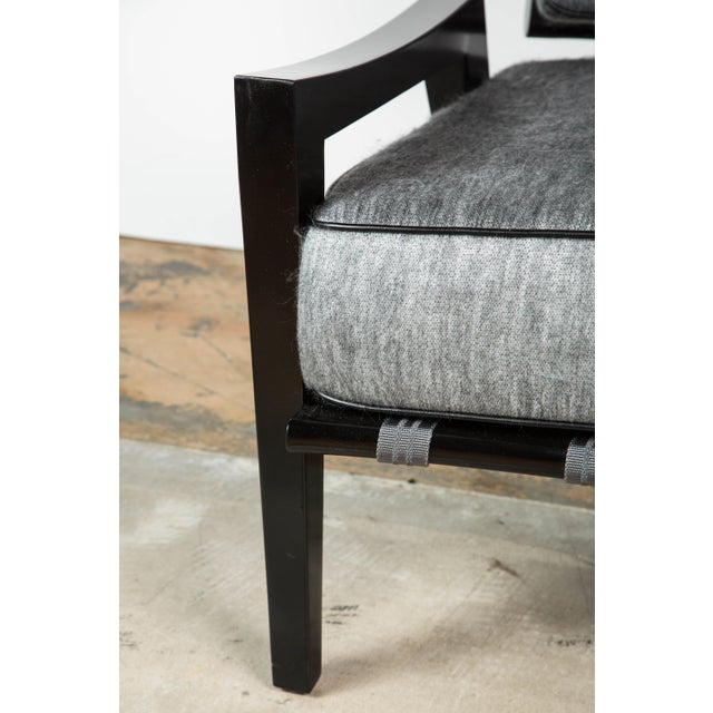 Paul Marra Low Lounge Chair in Black Lacquer - Image 8 of 9