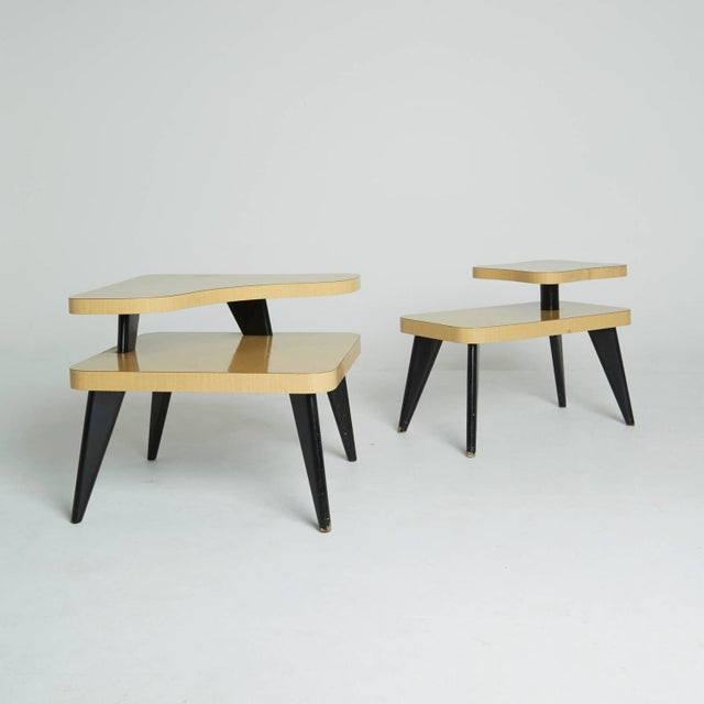 Two-Tier Mid-Century Side Tables - A Pair - Image 2 of 7