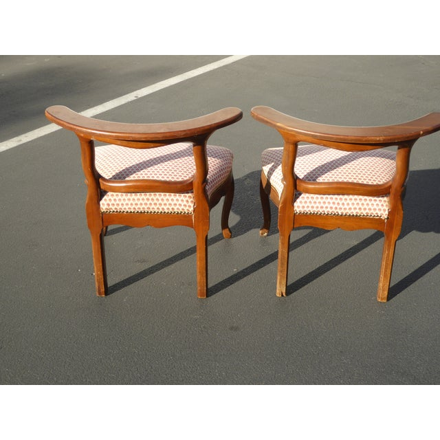 French Country Red Plaid Accent Chairs - A Pair For Sale - Image 5 of 10