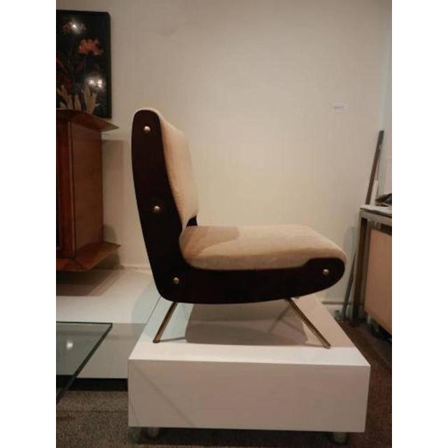Italian Gianfranco Frattini Pair of Slipper Chairs For Sale - Image 3 of 10
