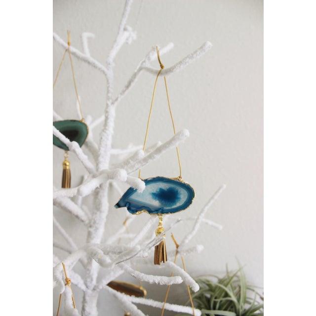 Modern Boho Agate Holiday Ornaments - Set of 7 - Image 8 of 11