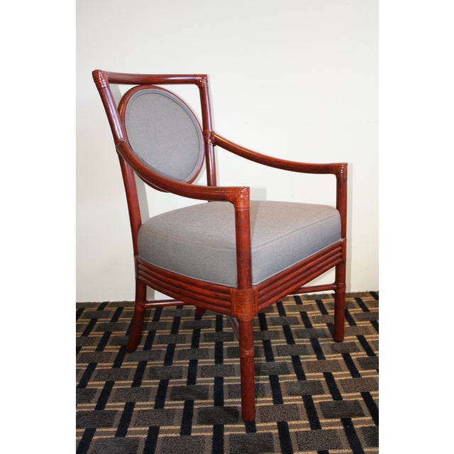 McGuire Orlando Diaz-Azcuy Salon Dining Arm Chair - Image 3 of 8