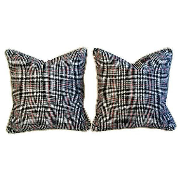 Custom Ralph Lauren Houndstooth Pillows - A Pair - Image 2 of 7