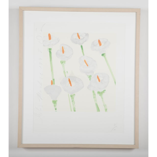 """White Donald Sultan """"Lilies"""" Serigraph on Paper For Sale - Image 8 of 11"""