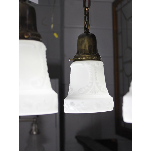 Embossed Flush Mount Light Fixture (4-Light) For Sale In Washington DC - Image 6 of 7