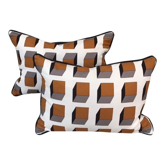 Gaston Y Daniela Lolo Ocre Lumbar Pillows - A Pair For Sale