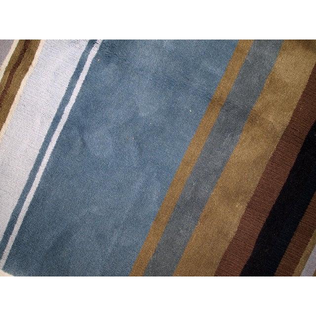 Textile 1980s handmade vintage Indian Modern rug 5.6' x 7.9' For Sale - Image 7 of 10