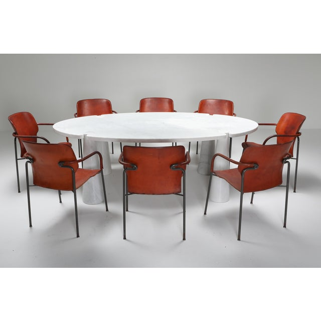1970s Carrara Marble Dining Table by Angelo Mangiarotti - 1970s For Sale - Image 5 of 13