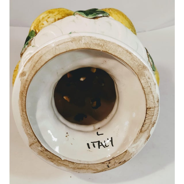 Vintage Italian Lemon Topiary Tree Centerpiece Fruit Ceramic Urn Pottery For Sale - Image 4 of 13