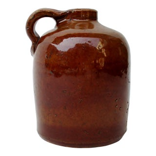 19th Century Stoneware Whiskey Jug For Sale