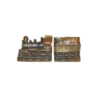 Train & Coal Car Bookends - a Pair