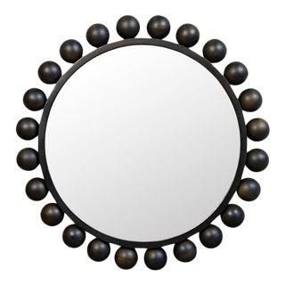 Noir Cooper Mirror in Black Metal For Sale