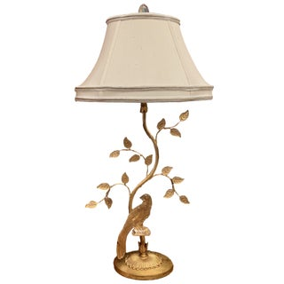 Crystal Parrot Lamp in the Style of Maison Bague For Sale