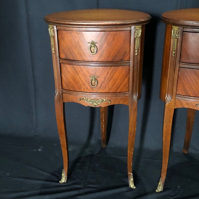French Louis XV Style Nightstands -A Pair For Sale In Naples, FL - Image 6 of 12