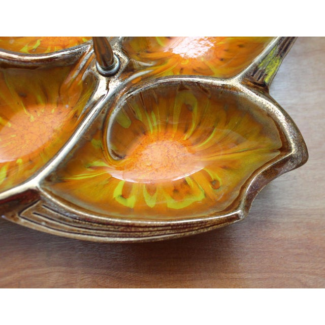 Dazzling Fire Orange serving dish made by the Californian Pottery Company in beautiful condition. A wonderful vintage...