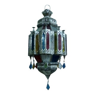Moorish Moroccan Hanging Lamp, EU Wired For Sale