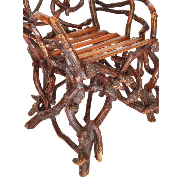 Brown Twig Chair For Sale - Image 8 of 10