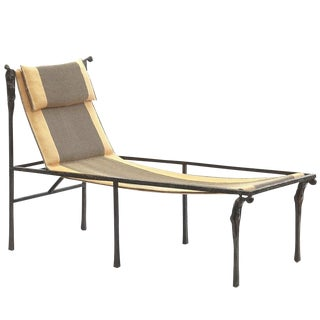 Ingrid Donat Bronze Meridienne Chaise For Sale