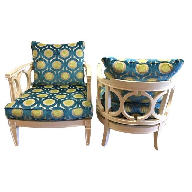 century furniture colson club chairs a pair chairish