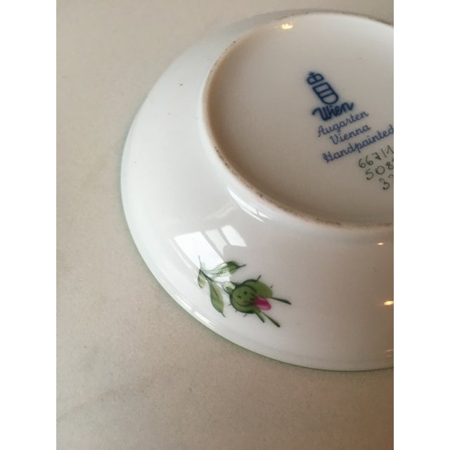 Wien Rose Motif Porcelain Jewelry Dish For Sale - Image 9 of 10