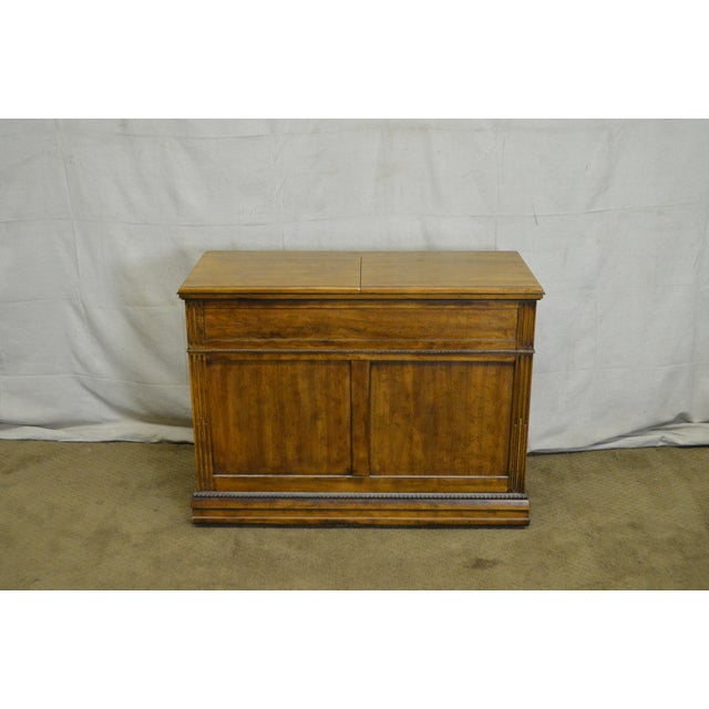 Davis Cabinet Co. Solid Walnut French Provincial Flip Top Server - Image 2 of 11