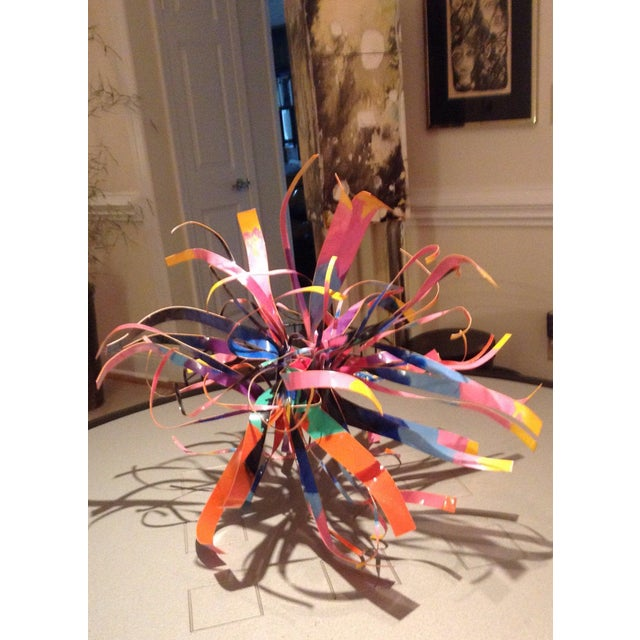 Dorothy Gillespie Enamel and Aluminum Art Sculpture Starburst For Sale - Image 11 of 11