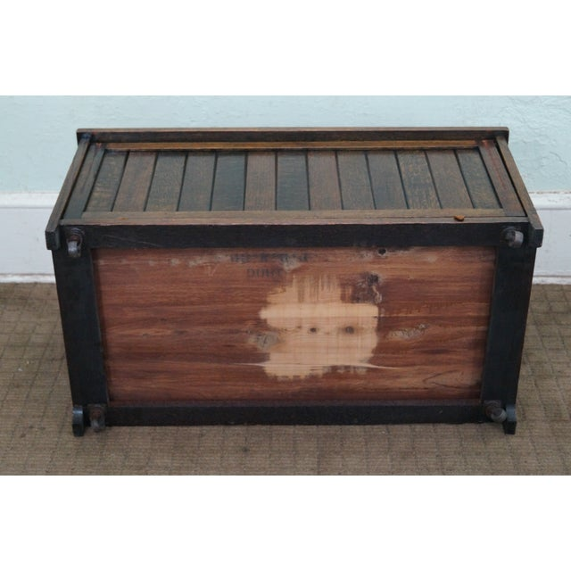 Brown FBM & Co. Mission Oak & Cedar Lined Chest Bench For Sale - Image 8 of 10