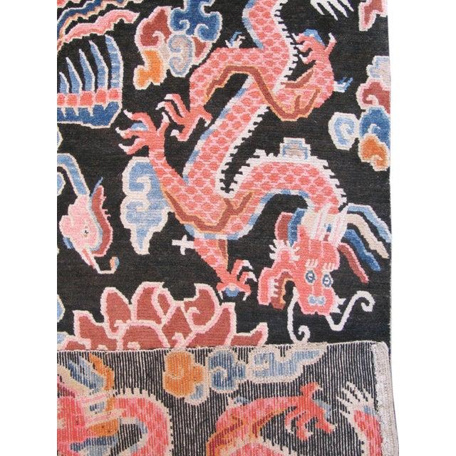 Asian Tibetan Wool Rug For Sale - Image 3 of 3