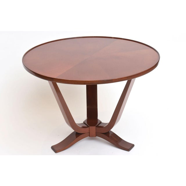 Brown Late Art Deco Mahogany Occasional Table For Sale - Image 8 of 9
