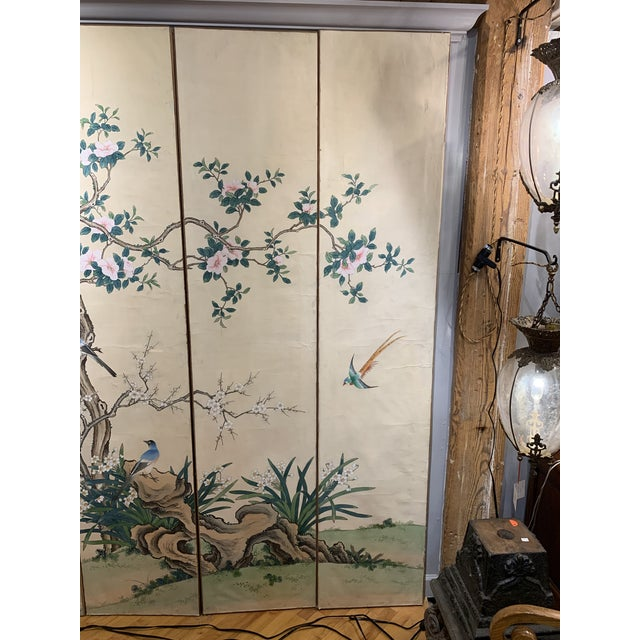 French Hand Painted 6 Panel Screen For Sale - Image 4 of 5