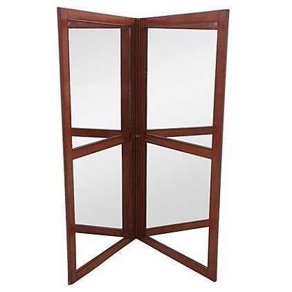 French Mirrored Screen Divider - Image 1 of 4