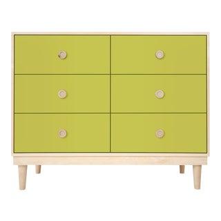 Nico & Yeye Luke Modern Kids 6-Drawer Dresser Solid Maple and Maple Veneers Green For Sale
