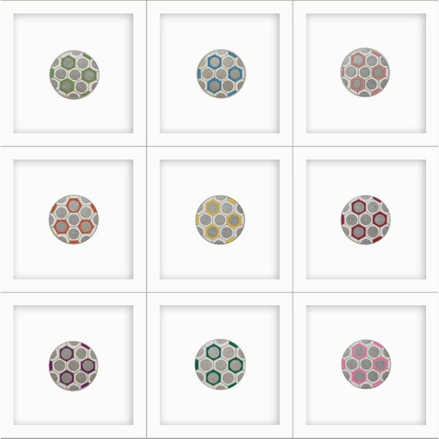 Minimalist Geometric Ink Drawings by Natasha Mistry- Set of 9 For Sale - Image 9 of 9