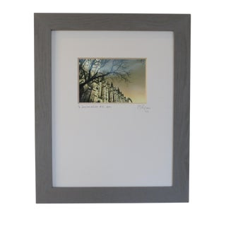 St. John the Divine Cathedral, N Y C Custom Framed and Matted by C. Damien Fox For Sale