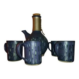 Jane & Gordon Martz for Marshall Studios Ceramic Cups and Carafe - Set of 5 For Sale