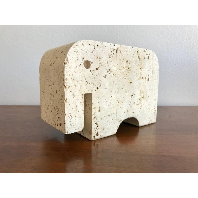 Fratelli Mannelli Travertine Elephant Bookend For Sale - Image 11 of 11