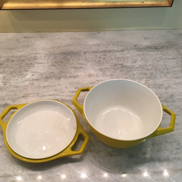 Yellow Danish Copco Enamelware by Michael Lax - A Pair For Sale - Image 6 of 12