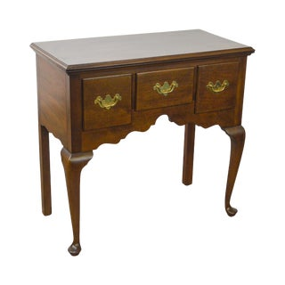 Madison Square Solid Mahogany Queen Anne Lowboy Console Server