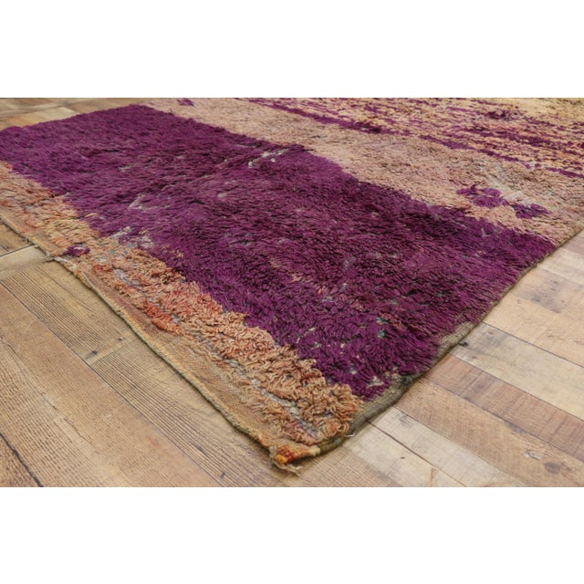 1960s Vintage Berber Moroccan Rug With Postmodern Memphis Style - 05'10 X 10'02 For Sale - Image 5 of 12