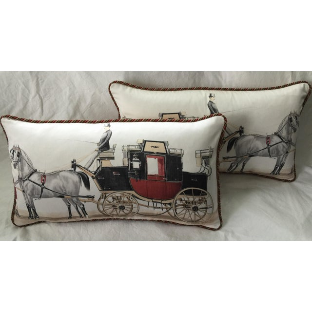 Aranjuez From Madrid Equestrian Accent Pillow - Image 3 of 7